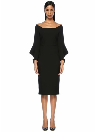 Roland Mouret Elbise Siyah